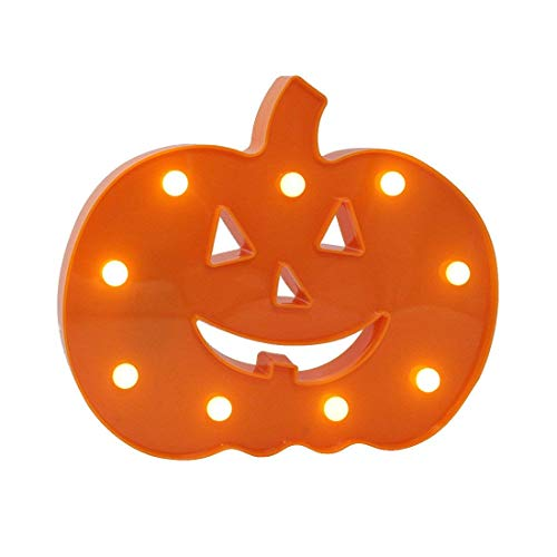 Glintee Halloween Pumpkin Light Decorative Marquee Signs Light Home Decorations-Wall Decoration for Party,Living Room,Bedroom(Battery Opearted) (Pumpkin)