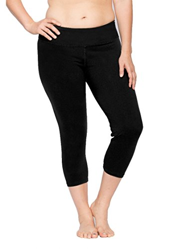 Lola Getts Plus Size Skinny Capri with Compression - Size 0 Black