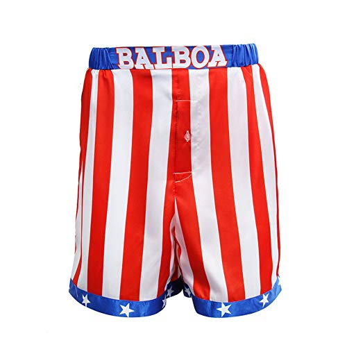 COSFLY Mens Movie American Flag Kickboxing Boxing Shorts Trunks Boxers Cosplay Costume (Large) -