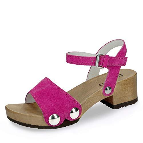 hazelnut Sandalias S337811 Softclox Piel Mujer Pink Para Olive Vestir De 7ZwHOU