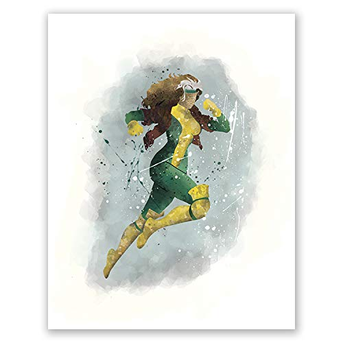 PGbureau Rogue Poster - Rogue Xmen Poster - Movie Print - Superhero Watercolor Illustration - Home Design for Nursery (8x10)]()