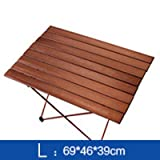 OTTAB Outdoor Camping Folding Table with Aluminium Alloy Table Waterproof Ultra-Light Durable BBQ Table Desk for Picnic Camping Coffee-L