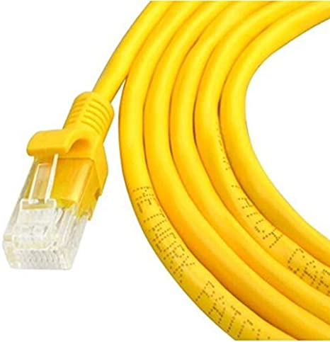 Cables Occus New 1-30M Yellow External Network Ethernet Cable CAT5e 100/% Copper RJ45 18Mar29 Cable Length: 5m, Color: White