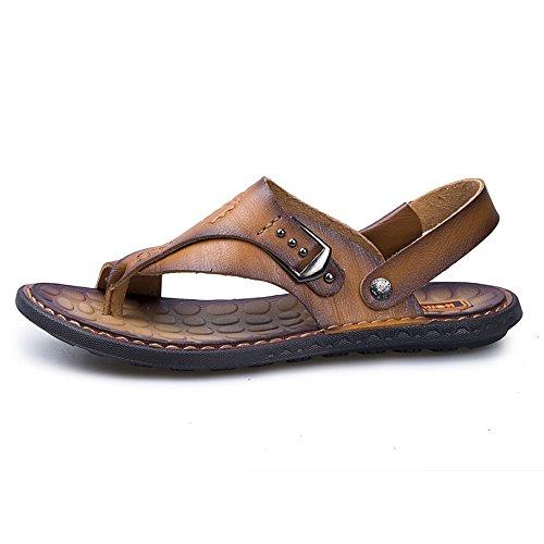 in a spiaggia da 2018 all'aperto scarpe regolabili manuale piatti casual Orange Scarpe pelle uomo PU la escursioni backless infradito morbido sandali piedi infradito lavoro Mens per 88wxgrq5R