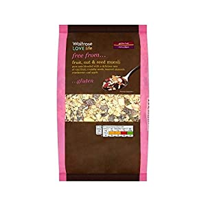 Gluten Free Muesli Fruit, Nut & Seed Waitrose Love Life 500g - Pack of 2
