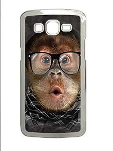 Hipster Orangutan Baby Polycarbonate Hard Case Cover for Samsung Grand 2/Samsung Grand 7106 Transparent