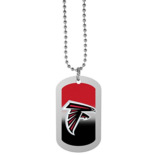 NFL Atlanta Falcons Team Tag Necklace, Steel, 26