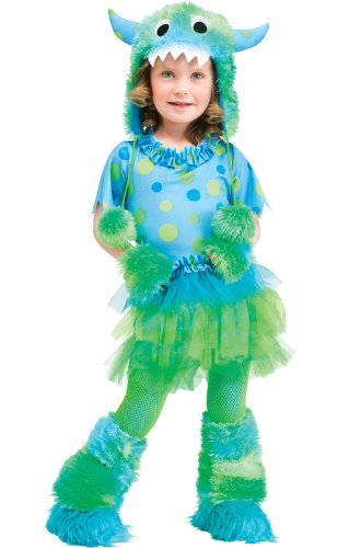 Fun World Costumes Baby Girl's Monster Miss Toddler Costume, Blue, Small (24 (Toddler Girl Monster Halloween Costumes)