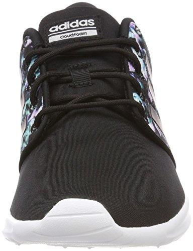 adidas CF QT Racer W, Zapatillas de Deporte Para Mujer Negro (Negbas / Negbas / Ftwbla 000)
