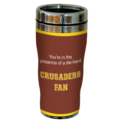 Tree-Free Greetings sg24596 Crusaders College Football Fan Sip 'N Go Stainless Steel Lined Travel Tumbler, - Foot Crusader