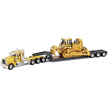 Norscot Peterbilt 389 with Trail King Lowboy Trailer with Cat D8R load 1:50 scale