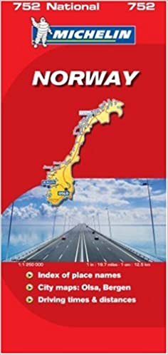 norway michelin national map 752 michelin national maps