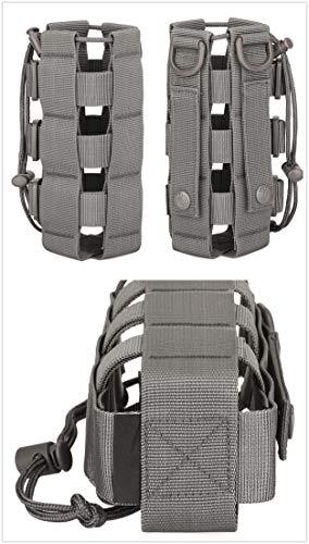 Yakmoo Sac de Bouteille d'eau Réglable 300-800ml Style Militaire Tactique Nylon Sac Bandoulière Imperméable Molle… 2