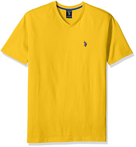 U.S. Polo Assn. Men's Solid T-Shirt, Egg Yoke, Medium ()