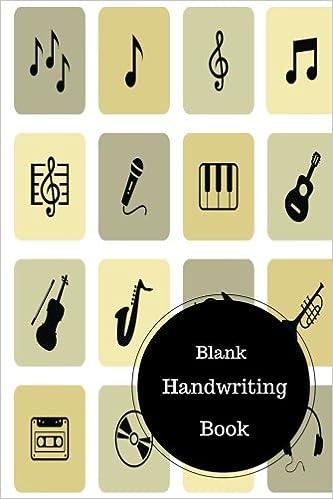 Blank Handwriting Book: Writing Worksheets For Preschoolers. Handy ...