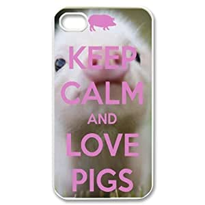 Pig Customized Cover Case for Iphone 4,4S,custom phone case ygtg698214