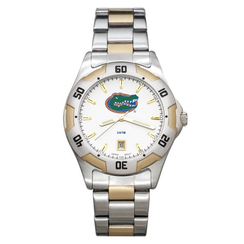NCAA Florida Gators Men's All-Pro Two-Tone Watch by Logo Art