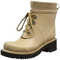 ILSE JACOBSEN Women's Rub 62 Rain Boot, Dark Camel, 40 EU/10 M US