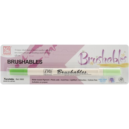 Zig Memory System Brushables Marker, Carded, Spring Green ()
