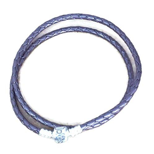 15 Leather Bracelets (PANDORA PURPLE DOUBLE BRAIDED LEATHER BRACELET SIZE 15