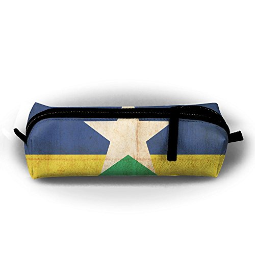 Brazil's Flag Simple Oxford Cloth Bag, Pencil Case With Daily Necessities, Can Be Filled With Cosmetic Bags