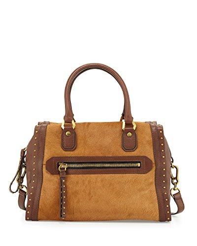 Oryany Brenda Studded Calf-Hair Convertible Satchel Bag, ...