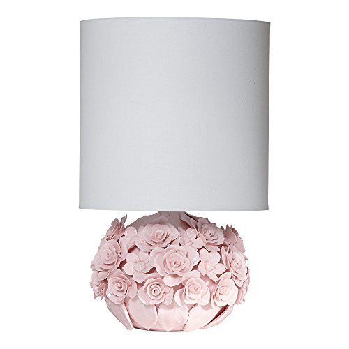 Enchanted Accent Lamp, Petal Pink (Childrens Ceramic Lamp)