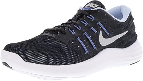 Nike Lunarstelos Black Metallic Silver Blue Moon Aluminum Womens Running Shoes – Size 8 B M US