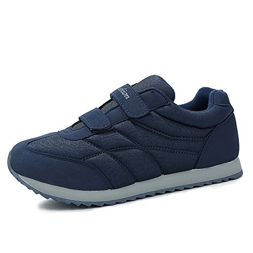 Flat Heel Super Light Solid Color Athletic Shoes for Women Men Cricket Shoes Dark Blue ZWRYC