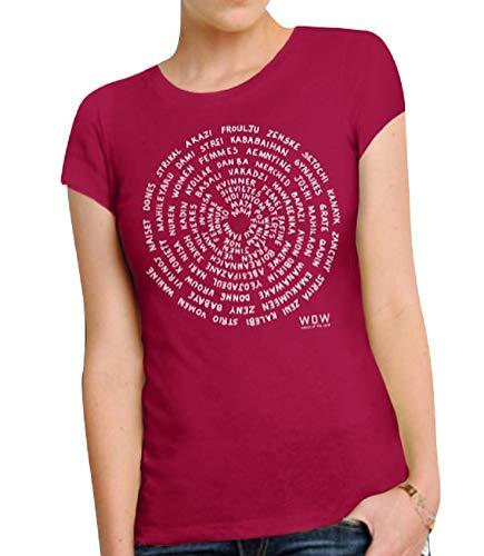 Empoderamiento Día Cuello Manga Dfgthrthrt Tops Unisex Para Camisa Feminista Casual De Mujer Con Gráfica Redondo Redwine Corta Camiseta EEgqXx