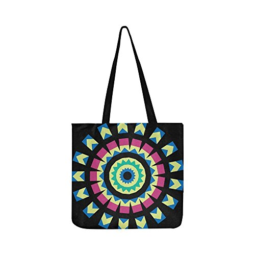Mandala Pattern Ornament Decoration Ethnic Arabic Canvas Tote Handbag Shoulder Bag Crossbody Bags Purses For Men And Women Shopping Tote