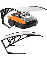 Arebos robot grasmaaier garage | afmeting 102 x 79 x 46 cm | weerbestendig + UV bescherming | met metalen poten | grasmaaier overkapping | incl. bevestigingsmateriaal