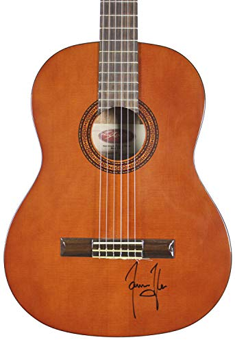 James Taylor Autographed Signed Brown Acoustic Guitar Autographed Signed Bas #H60046 - Certified - Taylor Memorabilia James