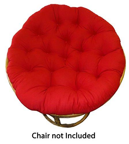 Cotton Craft Papasan Red Overstuffed