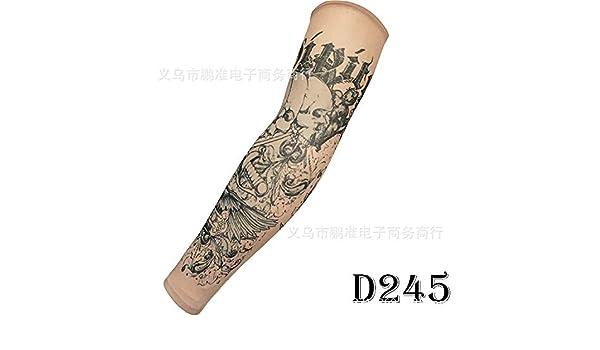 CXQ Manga del tatuaje Protector solar Tatuaje sin dolor Flor Brazo ...