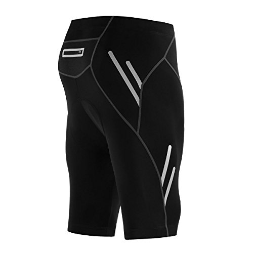 TRYSIL Men's Cycling Shorts Half Bicycle Pants Bike Tights 4D Coolmax Padded UPF 50+. (M)