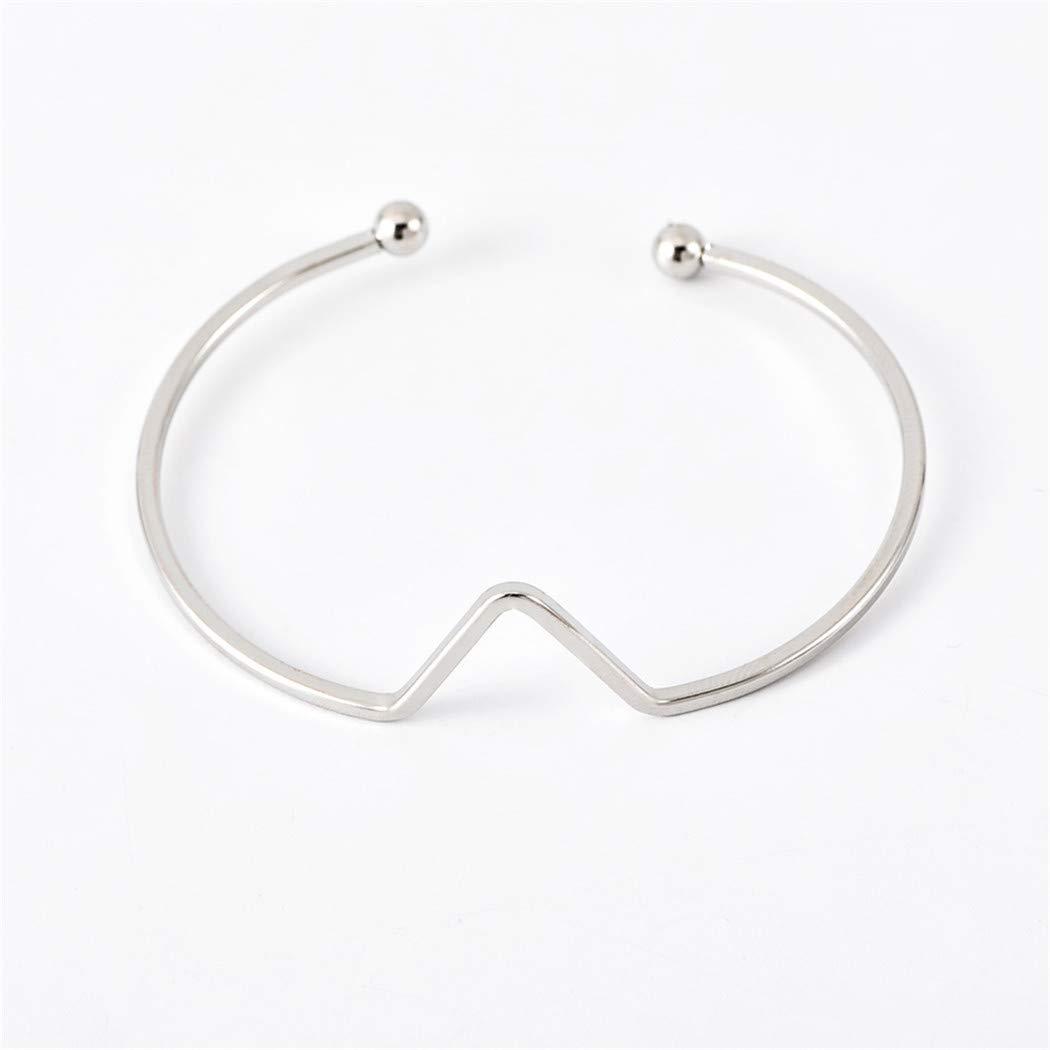 Eleusine Bracelet manchette r/églable motif lune bracelet ouvert bracelet empilable Wrap Set pour les femmes filles