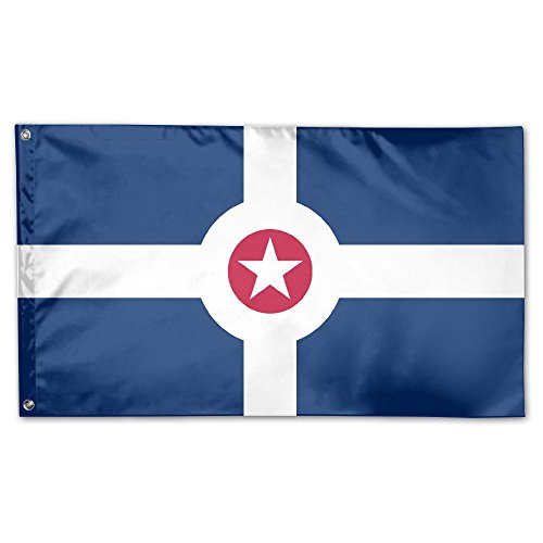Indianapolis Flag - Flag Of Indianapolis House Flag Garden Flag Yard Banner Garden Stand Flag 3' X 5'