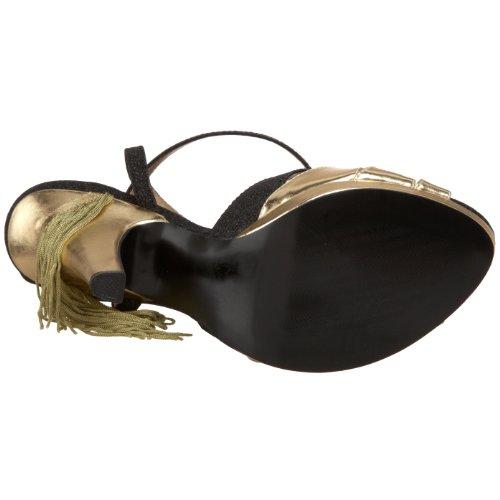Bordello Ved Pleaser Kvinners Sirene-05g Sandal Black Glitter-gull Pu