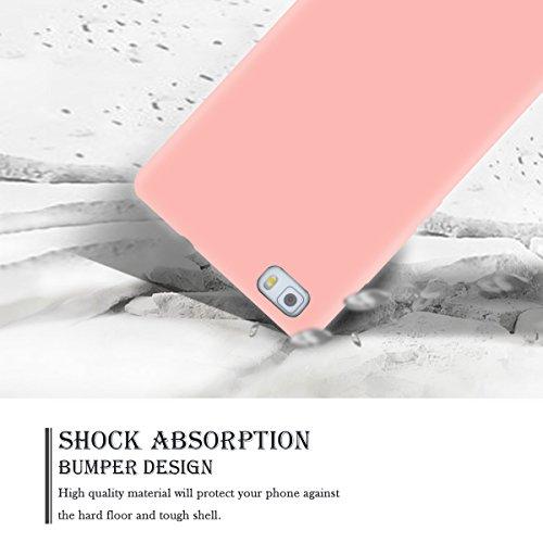 Funda Huawei P8 Lite, SpiritSun Soft Carcasa Funda para Huawei P8 Lite (5.0 pulgadas) Ultra Delgado y Ligero Flexible TPU Caja Suave Silicona Piel Carcasa Anti Rasguños Anti Golpes Parachoques Diseño  Rosado