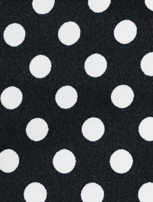 Travel Weekender Overnight Carry-on Under the Seat Shoulder Tote Bag (Small, Black & White Polka Dot) by Simplily Co. (Image #1)