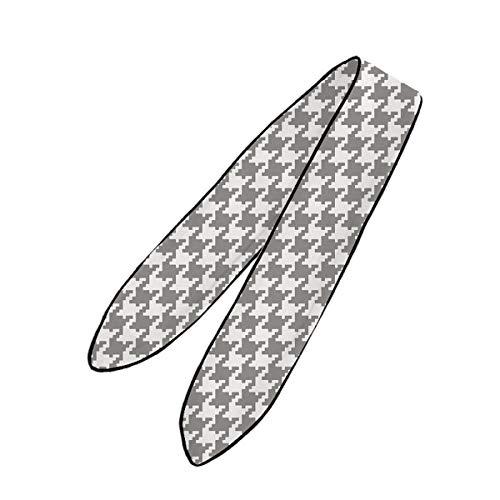 YEAHSPACE Women's Classic Houndstooth Necktie,Headdress,Fashion Accessories ()