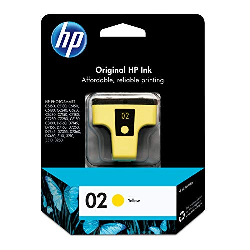 - HP 02 Yellow Ink Cartridge (C8773WN) for HP Photosmart 3210 3310 C5180 D7245 D7255 D7363