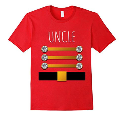 Mens Uncle Christmas Toy Soldier Costume Nutcracker Adult Shirt Xl Red