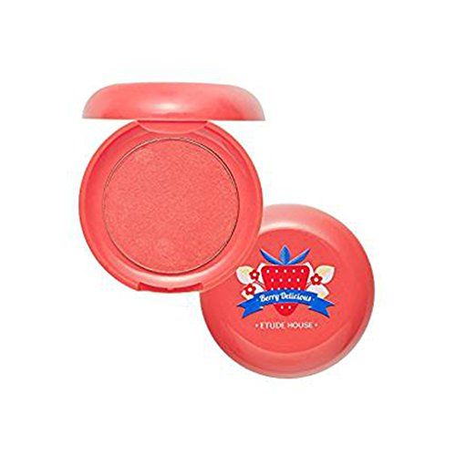 ETUDE HOUSE Berry Delicious Cream Blusher 6g (#1 Ripe Strawberry) - Moist Cream Cheek for a Lovely Look, Daily Natural Color