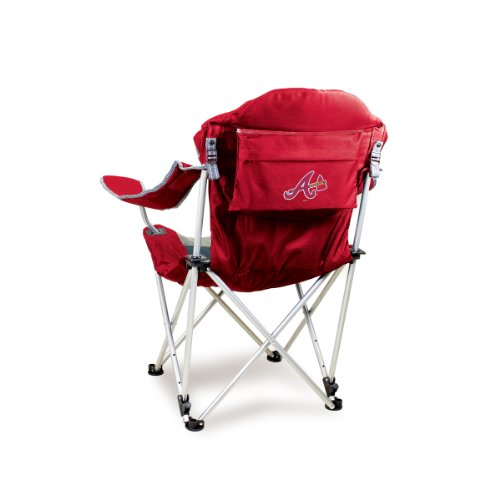 picture of MLB Atlanta Braves Portable Reclining Camp Chair, Red