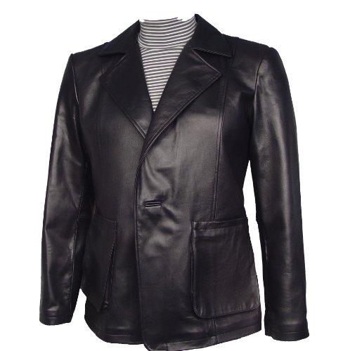 Supple Leather Blazer (Nettailor Size M Supple Real Leather Mens Sports Blazer Jacket Patch Big Man)