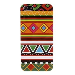Ethnic Orange Tones Pattern Hard Case for iPhone 5/5S
