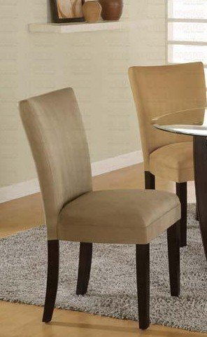 - Set of 2 Parson Dining Chairs Camel Microfiber