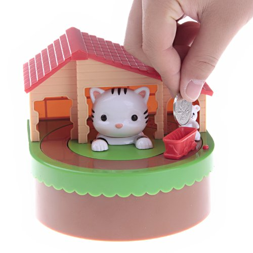 (Cute Cat & Mouse Coin Piggy Bank)